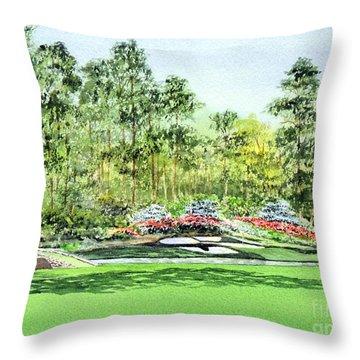 Augusta National Golf Course Throw Pillow