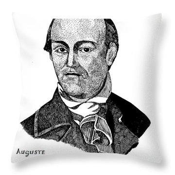 Auguste Chouteau Throw Pillow