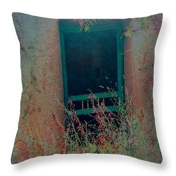 Throw Pillow featuring the photograph Augustines Door by Kate Word