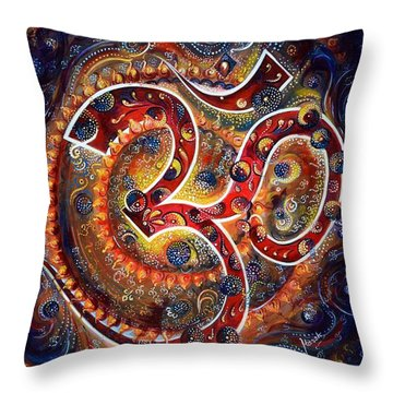Aum - Vibrations Of Supreme Throw Pillow