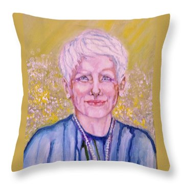 Aunt Betty Throw Pillow