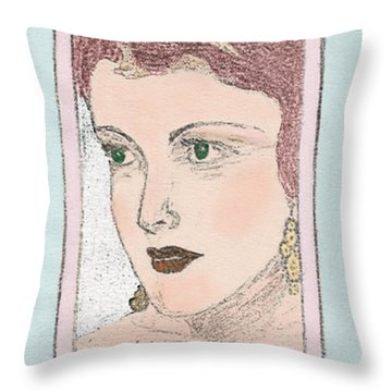 Aunt Edie Throw Pillow