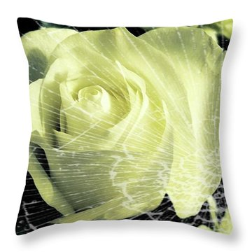 Aunt Edna's Rose Throw Pillow