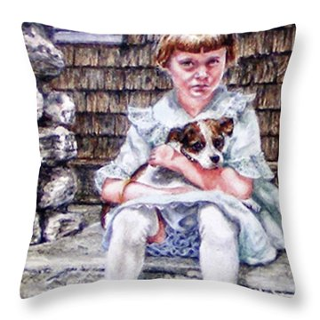 Aunt Eve 1919, Finders Keepers Throw Pillow