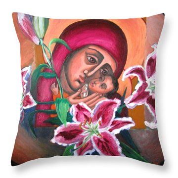 Aunt Katya's Icon Throw Pillow