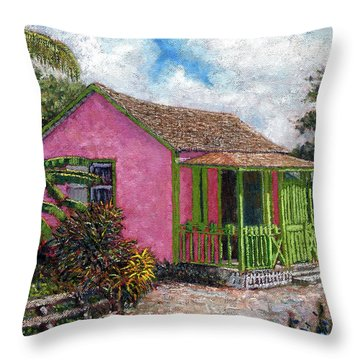 Aunt Suzy's Cottage Throw Pillow