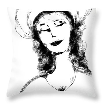 Auntie Mame Throw Pillow by Elaine Lanoue