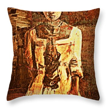 Auntie Throw Pillow by Vannetta Ferguson