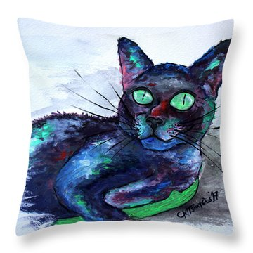 Aunt's Beautiful Companion, Ms. Biscuit Throw Pillow