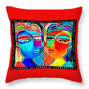 0 Aura Energy Refection Throw Pillow