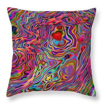 Aura Lights Throw Pillow