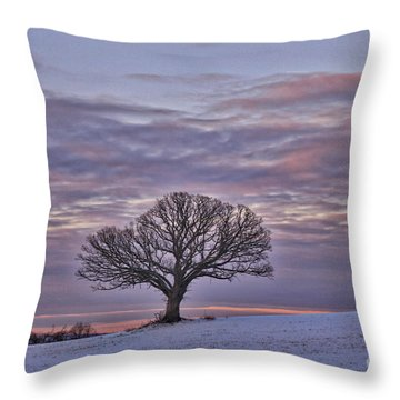 Aura Of A Tree Throw Pillow