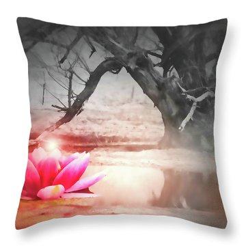 Aura Of Life  Throw Pillow