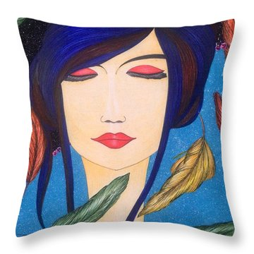 Aura Of Peace. Throw Pillow