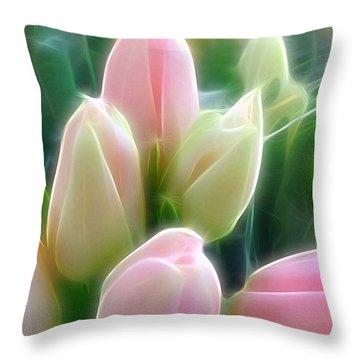 Aura Of Tulip Throw Pillow