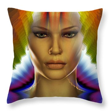 Throw Pillow featuring the digital art Aura by Shadowlea Is
