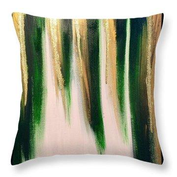 Aurelian Emerald Throw Pillow