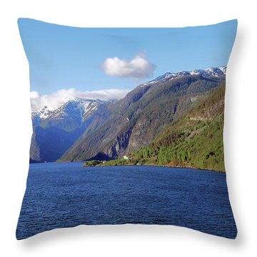 Aurlandsfjord Throw Pillow