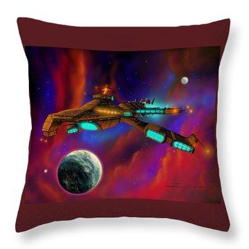 Auroborus 2015 Throw Pillow by James Christopher Hill