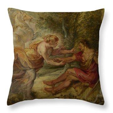 Aurora Abducting Cephalus Throw Pillow