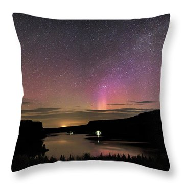 Throw Pillow featuring the photograph Aurora At Lake Billy Chinook by Cat Connor
