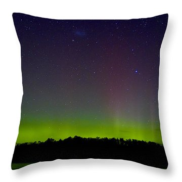 Aurora Australia Trial Bay Tasmania 19 March 2015 Throw Pillow