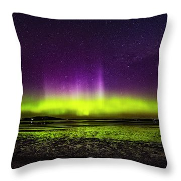 Throw Pillow featuring the photograph Aurora Australis by Odille Esmonde-Morgan