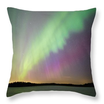 Aurora Borealis - Northern Lights Throw Pillow