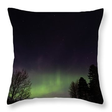 Aurora Borealis Northern Lights Throw Pillow