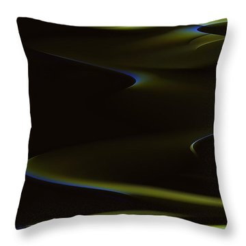 Aurora Borealis Over The Sand Dunes Throw Pillow by Angela A Stanton