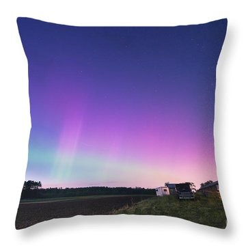 Aurora Energized Pepper Fields Throw Pillow by Patrick Fennell
