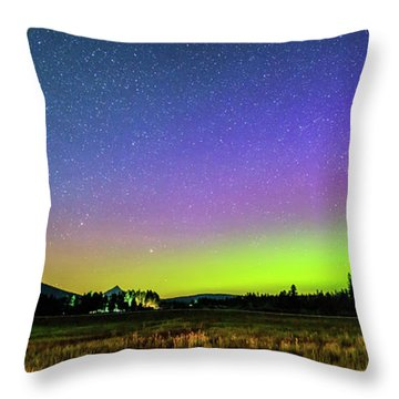 Throw Pillow featuring the photograph Aurora In Sisters by Cat Connor