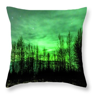 Aurora In The Clouds Throw Pillow