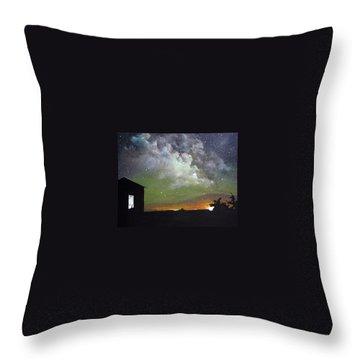 Aurora Lights Throw Pillow by Annmarie Vierick