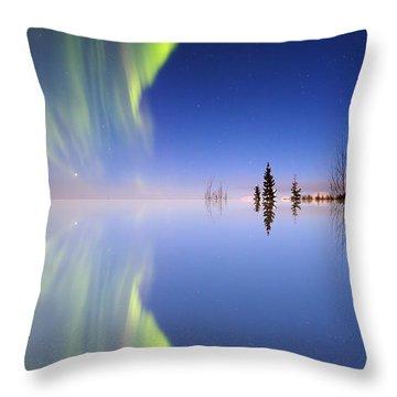 Aurora Mirrored Throw Pillow by Ed Boudreau