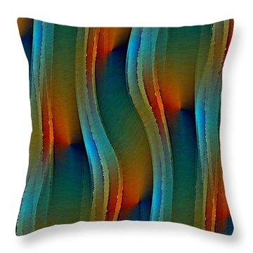 Aurora Oil Throw Pillow