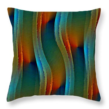 Aurora Oil Throw Pillow