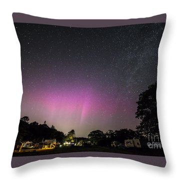 Aurora Over Sagadahoc Bay Campground Throw Pillow
