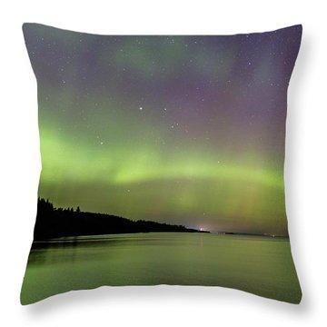 Aurora Over Superior 7 Throw Pillow