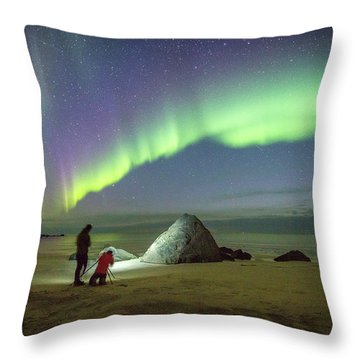 Aurora Photographers Throw Pillow