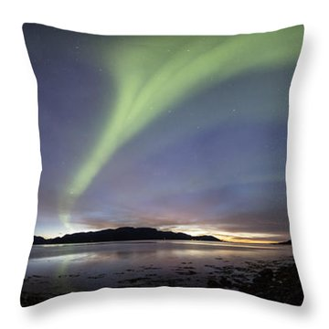 Aurora Polaris Panoramic Throw Pillow