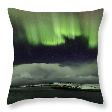 Aurora Polaris Panoramic II Throw Pillow