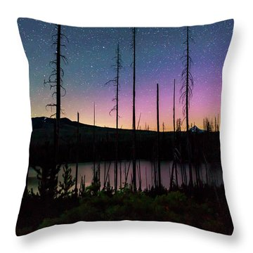 Throw Pillow featuring the photograph Aurora Reflections by Cat Connor