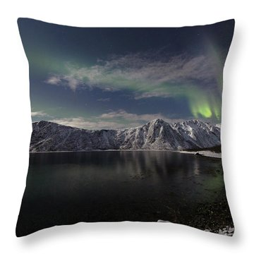 Auroras Over The Bay Throw Pillow