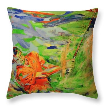 Aus Dem Bunker Spielen   Bunker Shot Throw Pillow