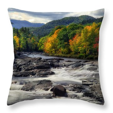 Throw Pillow featuring the photograph Ausable River Jay Ny by Mark Papke