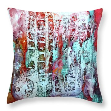 Ausangate Waterfalls Throw Pillow