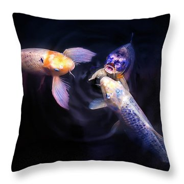 Auspicious Three Throw Pillow