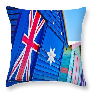 Aussie Beach Shack Throw Pillow