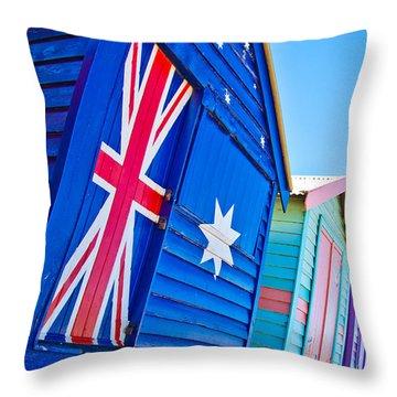 Aussie Beach Shack Throw Pillow